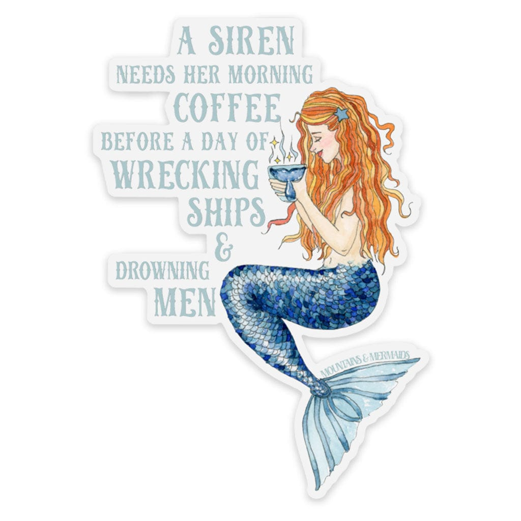 mountains & mermaids Siren's Brew Sticker