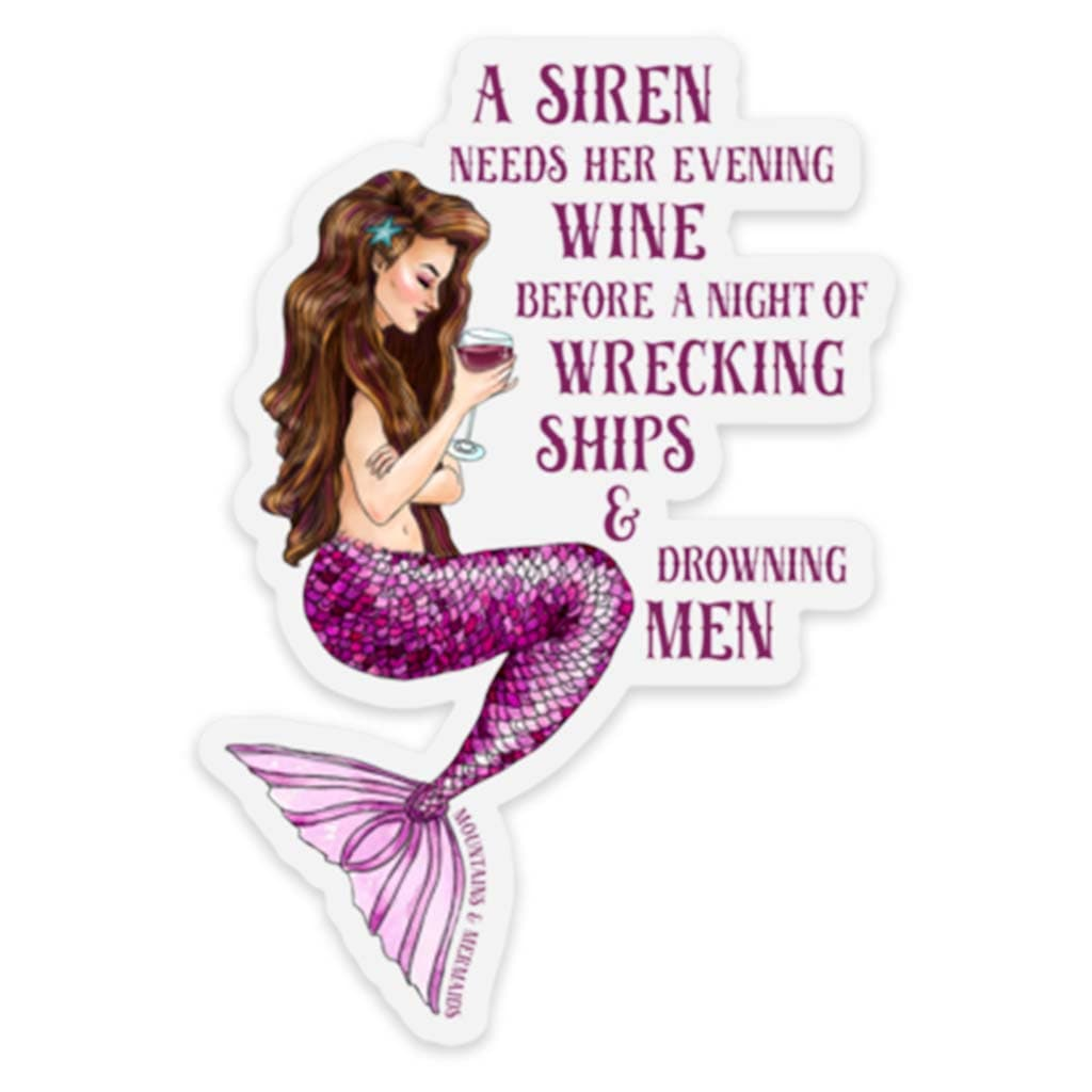 Siren's Grog Sticker - Mountains & Mermaids