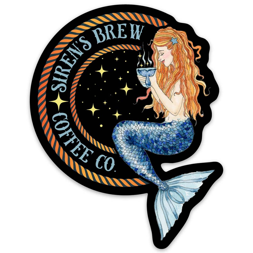 Siren's Brew Coffee Co Sticker - Mountains & Mermaids