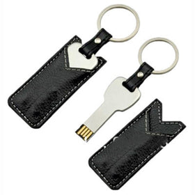 Key With Leather Pendrive