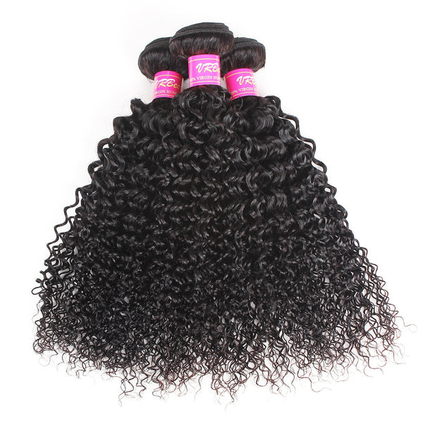 VRBest Brazilian Curly Virgin Hair Bundles 1 Pc Peruvian Malaysian Indian Hair