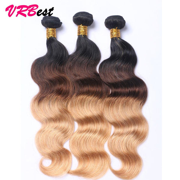 Wholesale Price (5 Pieces at least) 8A Ombre Body Wave Straight Virgin Hair T1B/4/27 T1B/27