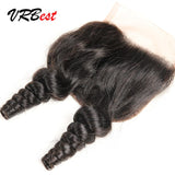 VRBest 13*4 Ear To Ear Lace Frontal Closure Brazilian Peruvian Malaysian Indian Loose Wave