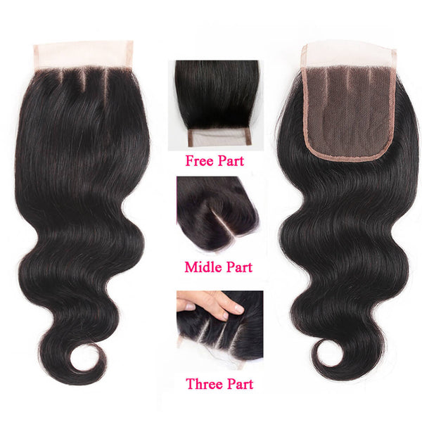 Wholesale Price (5 Pieces at least) 7A Human Hair Closure 4*4 Virgin Body Wave Straight Curly Loose Wave Deep Wave Lace Closure