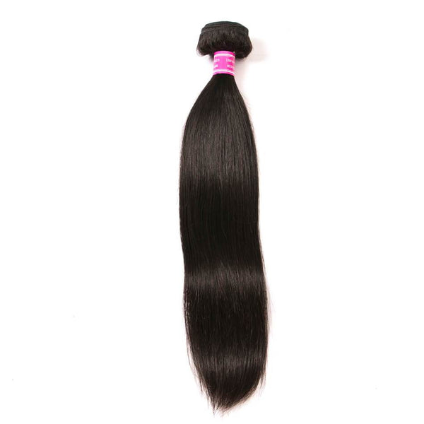 VRBest Virgin Human Hair Straight 1 Bundle Brazilian Peruvian Human Hair