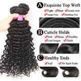 VRBest Brazilian Virgin Hair Deep Wave 1 Bundle Peruvian Malaysian Indian Hair