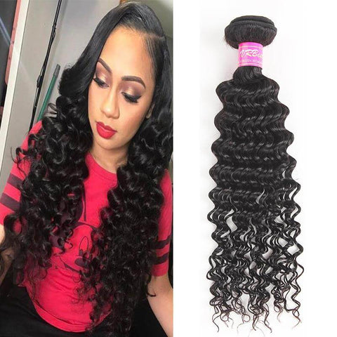VRBest 8A Brazilian Virgin Hair Deep Wave 1 Bundle Virgin Peruvian Malaysian Indian Human Hair Extensions