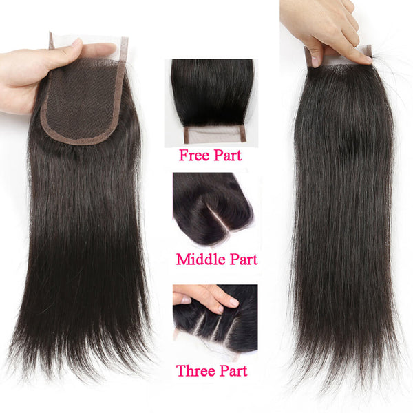 Wholesale Price (5 Pieces at least) 8A Human Hair Closure 4*4 Virgin Body Wave Straight Curly Loose Wave Deep Wave Lace Closure