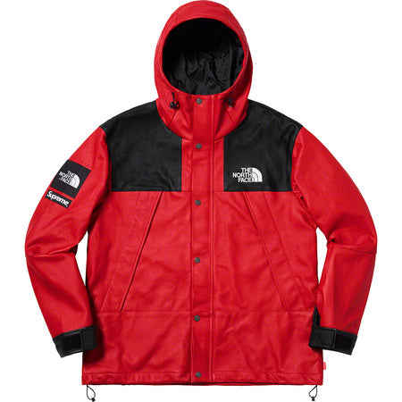 "Supreme®/The North Face® Leather Mountain Parka ""Red"""