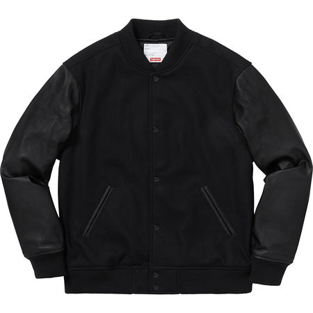 Motion Logo Varsity Jacket Black