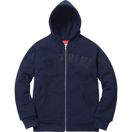 Arc Logo Thermal Zip Up Sweatshirt Navy