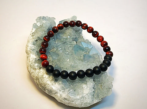 Tiger Style! Red And Black Unisex mala - HollaForMyMala