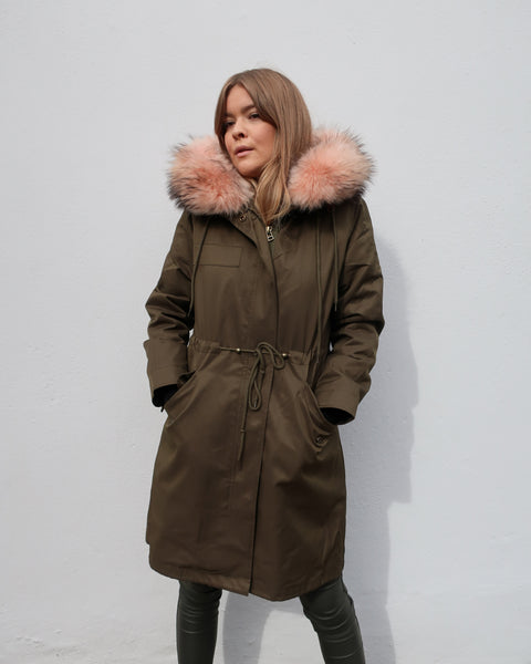 Tess Parka Coat Soft Pink