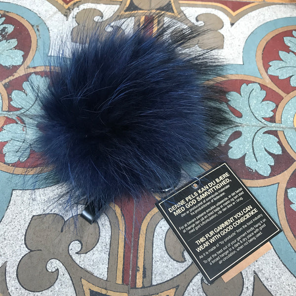 Fur Keyhanger Midnight Blue