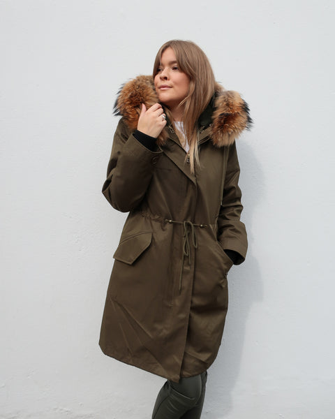Tess Parka Coat Natural