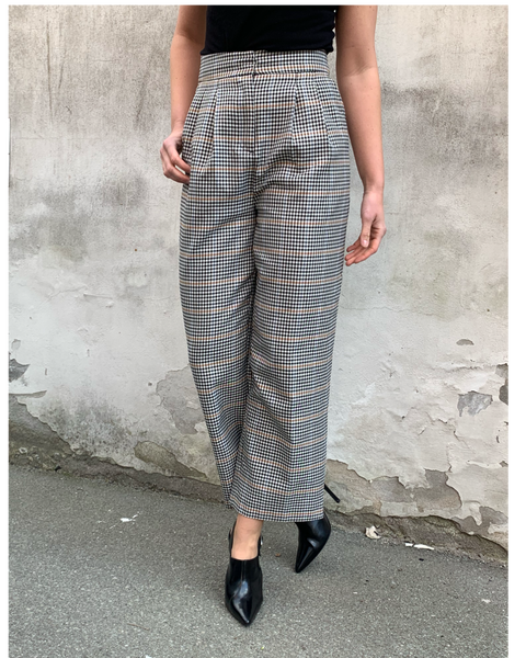 Holmes Wide Trousers Bright Check