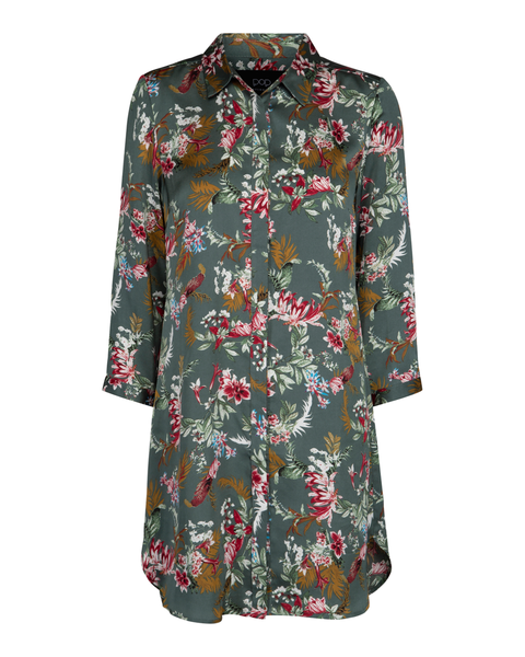 Bloom Printed Shirt Dress