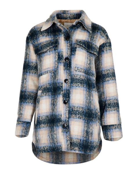 Pike Plaid Jacket - Light Blue