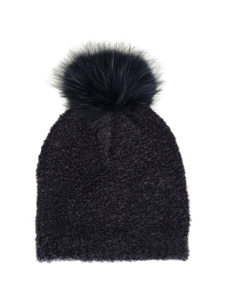 Hat Sheeba Bouclé Knit - Navy