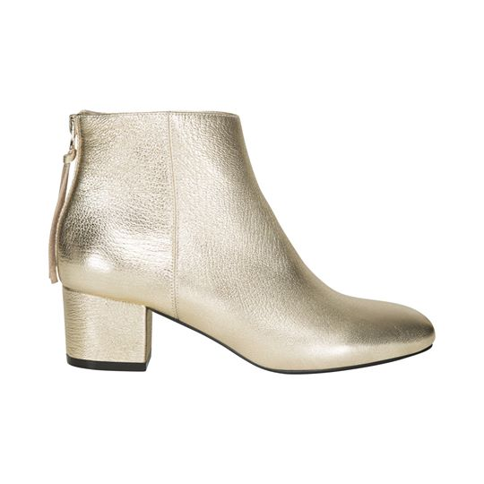 Boot Gold Low Heel