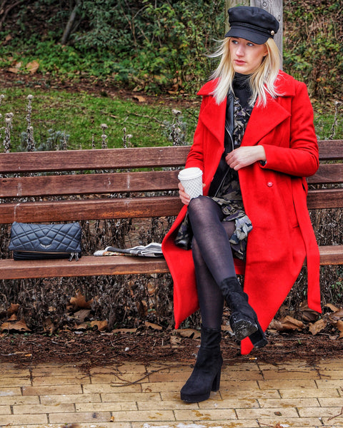 Sette Wool Coat Posh Red