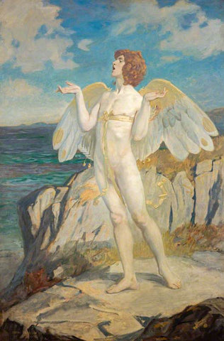 John Duncan - Angus Og, God of Love and Courtesy, Putting a Spell of Summer Calm on the Sea 1908