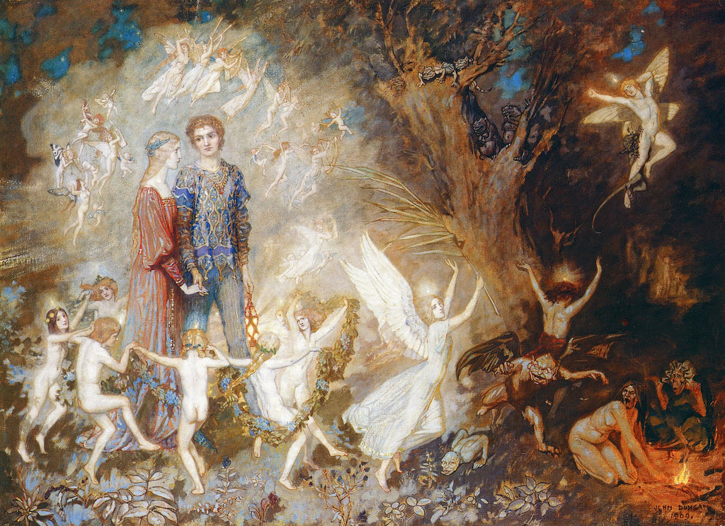 John Duncan - Yorinda and Yoringel in the Witches' Wood