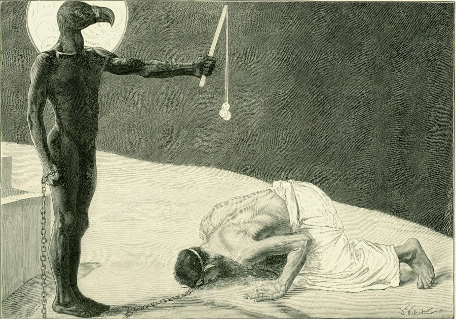 Sascha Schneider - Mammon and His Slave (ca. 1896)