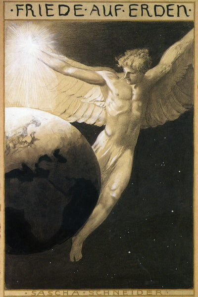 Sascha Schneider - Peace on Earth (1904)