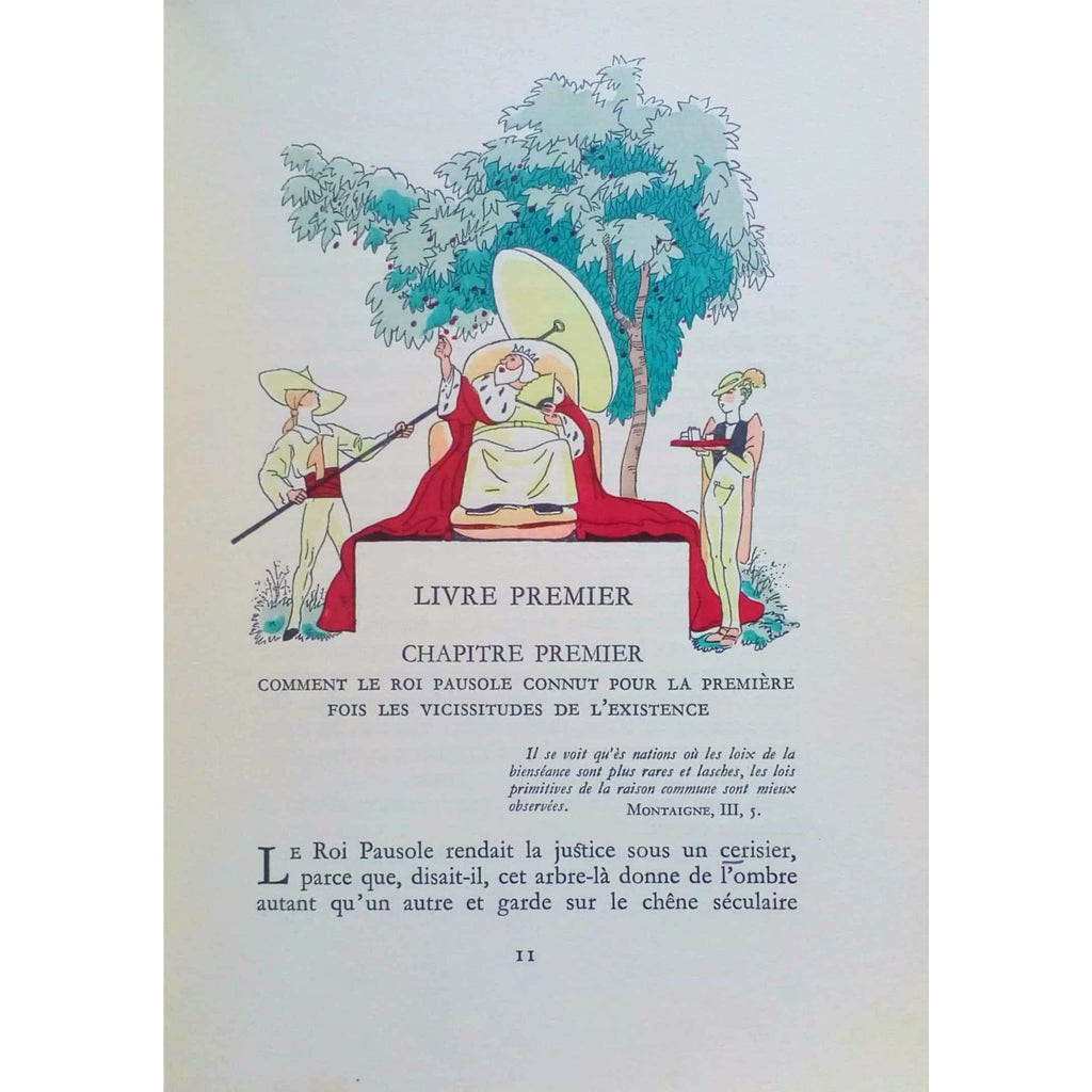 Erotica - Pierre Louÿs - Les Aventures du Roi Pausole illustrated by J. Touchet