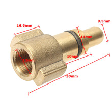 Load image into Gallery viewer, Lavor 1/4 Inch Male, Brass, Snow Foam Lance Pressure Washer Adapter