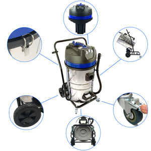 40ft (2 Story) Gutter Vacuum Cleaning System, 16 Gal, 3600 Watts, 3 x Motor Vacuum (Bundle Discount)