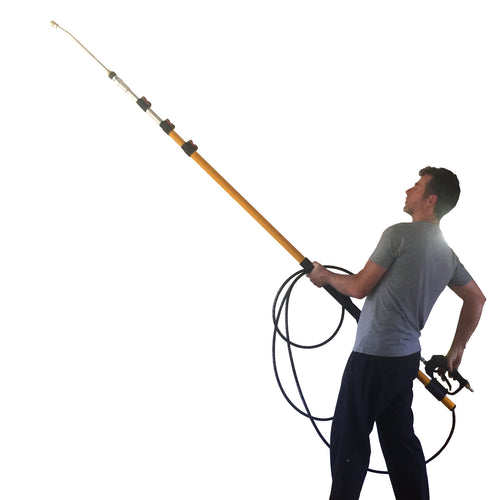 18' Giraffe Telescoping Lance for Pressure Washer, Extendable, 3 sections, up to 4000 psi, 8 GPM