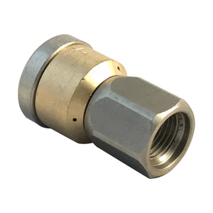 "Spinning Jetting Nozzle for Drain and Sewer Cleaning with Pressure Washers upto 4000psi (1/4"" NPT) 045 Jet size."