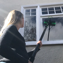 Load image into Gallery viewer, AquaSpray Water Fed Pole Kit for Window or Solar Cleaning (20 Foot Reach) with Double Gooseneck.