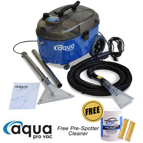 Aqua Pro Vac Carpet Spotter for Auto Detailing - with FREE Pre-Spotter Chemicals