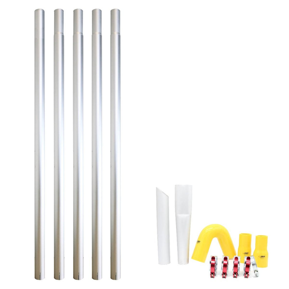 20ft (2 Story) Story Commercial Aluminum Gutter Cleaning Pole Kit (20 Feet Reach)