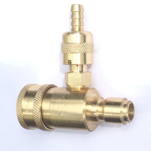 In-Line Adjustable Chemical Injector for Pressure Washers, Quick Connector Female to Male