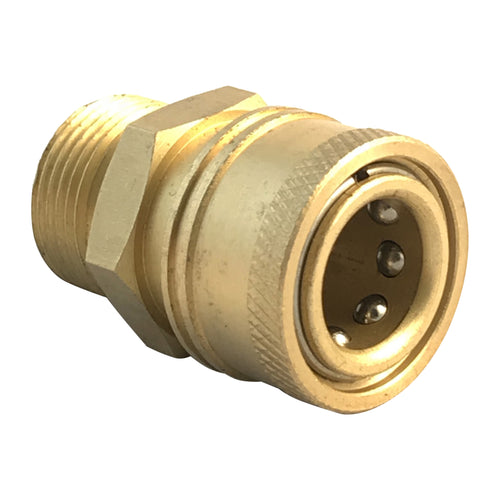 Pressure Washer M22 male screw thread, to quick connect 3/8 inch female coupling