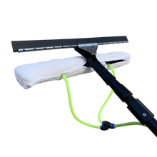 Load image into Gallery viewer, All in One Scrubber & Squeegee for water fed poles with 2 water nozzles build in