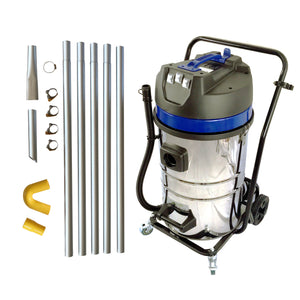 20ft (2 Story) Gutter Vacuum Cleaning System with 20 Gal 3600 Watt 3 x motor vac (bundle discount)