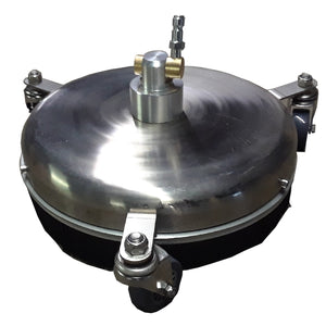 "12"" Rotary Flat Surface Cleaner, 4000 psi, 6GPM Stainless Steel with 1/4"" f Quick-Connector."