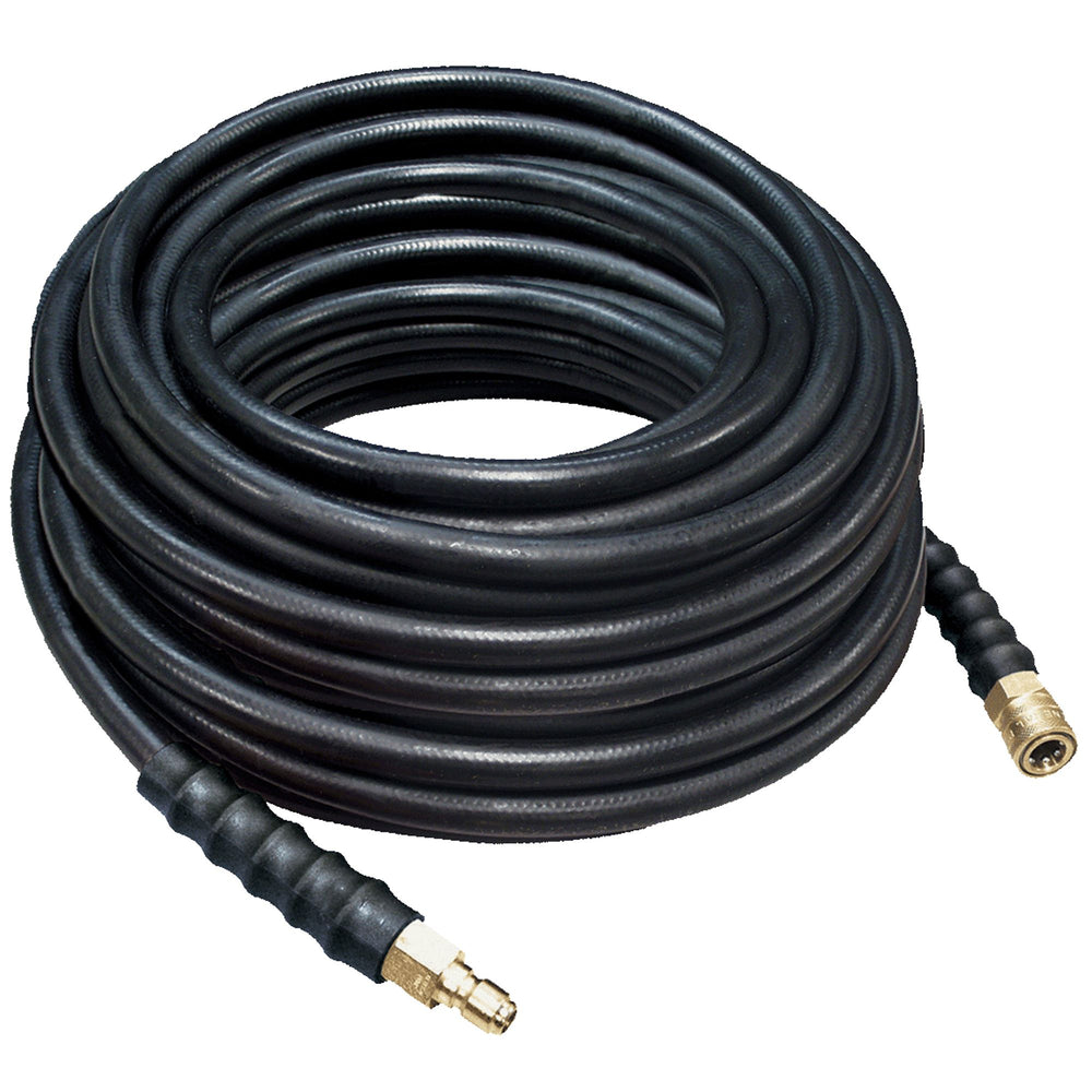 25' Pressure Washer Hose, Heavy Duty, 4000 PSI, 3/8 inch male to quick connector, double braided