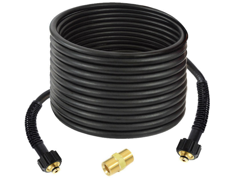 50 Feet Replacement PVC Pressure Hose  1/4 inch - M22 - Replacement / Extension with coupling to extend