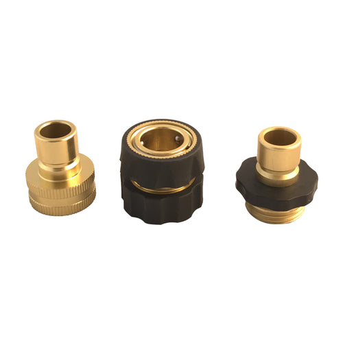 Garden Hose Connector Kit, Female M22 inlet,