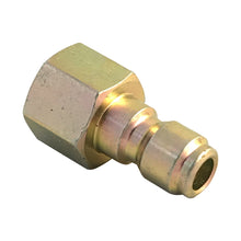 "Load image into Gallery viewer, 3/8"" Female NPT Screw Thread to 3/8 inch Male Quick Connect Plug coupling"