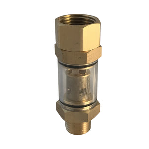 Low-Pressure Inline Water Filter, outlet - 1/2 inch NPT Male, Inlet - 3/4 inch Garden Hose Female thread, for pressure washer