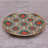 floral print, mix and match plates , mosiac print ,tablesetting, dinnerware, ceramic plates