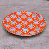 orange , appetizer plates, salad plates, unique