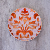 inspired by ikat , dinnerware, ceramic side plates , dessert plates